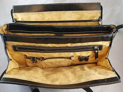 Franklin Covey Black Leather Womens Laptop Bag - Business Travel Bag - Briefcase