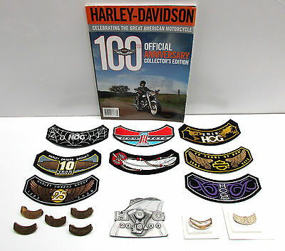Huge Lot Of Assorted Harley Davidson Hog Patches And Pins