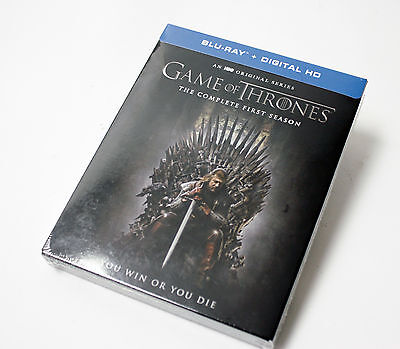 Game of Thrones: The Complete Season 1 (Blu-ray+Digital HD, 5-Discs) NEW SEALED