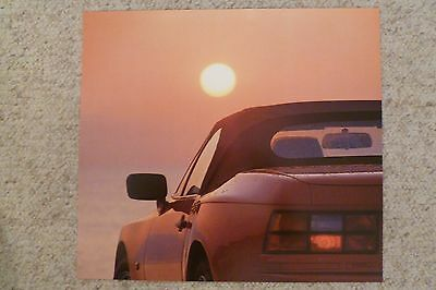 1990 Porsche 944 S2 Cabriolet Showroom Advertising Sales Poster RARE!! Awesome