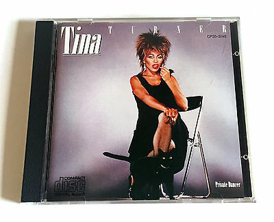 TINA TURNER Private Dancer JAPAN 1st Press CD 1984 CP35-3148 3500yen