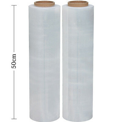 1 Roll 50cm x 400m 25um Transparent Stretch Film Pallet Wrap Wrapping package