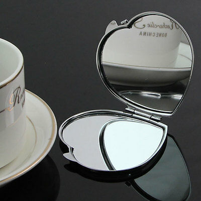 Heart Shape Compact Two-sided MakeUp Mirror Cosmetic Pocket Beauty Mirror Unique