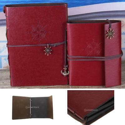 Vintage PU Leather Photo Album Memo Book Paste DIY Scrapbook Memory Gift
