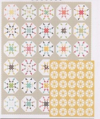 Idyllic - modern pieced quilt PATTERN for fat eighths - Coriander Quilts