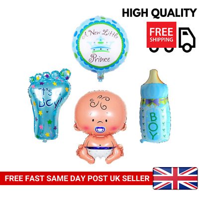 4Pcs Boy Foil Helium Balloon For Newborn Baby Shower Christening Birthday Party