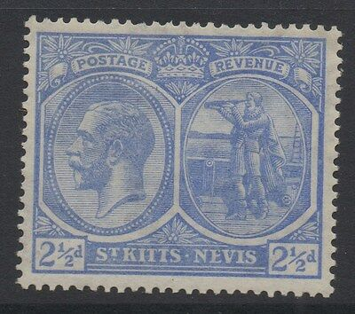 ST.KITTS & NEVIS;  1921 early GV issue fine Mint hinged 2.5d. value