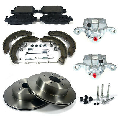 Pair Rear Calipers Discs Pads Shoes Kits Fits: Nissan X-Trail T30 01-07 Bbk0058A