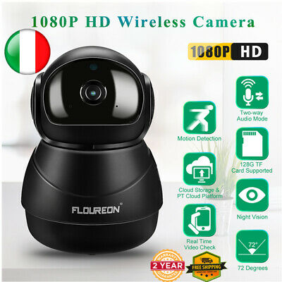 Telecamera Ip Camera Infrarossi 4X Zoom Ptz Hd Wireless Wifi Motorizzata Esterno
