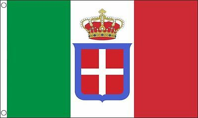 Italy State 1861-1946 5ft x3ft (150cm x 90cm) 100% Polyester Flag