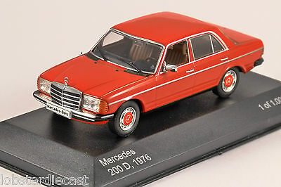 1976 MERCEDES 200D (W123) in Red 1/43 scale model by Whitebox
