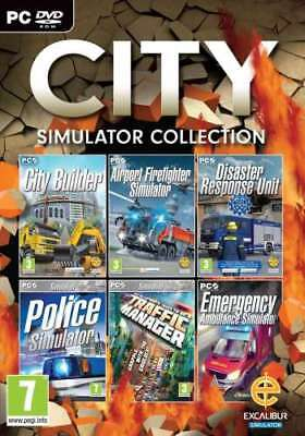 City Simulator Collection 6 Games - PC DVD - brand new and factory sealed