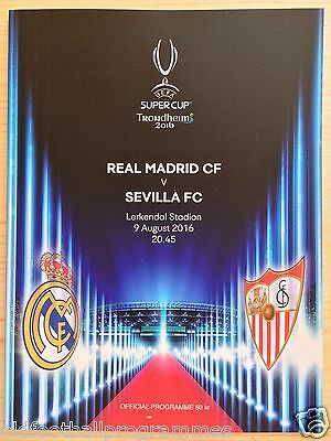 2016 Super Cup Final Programme *(Real Madrid V Sevilla)* (09/08/2016)