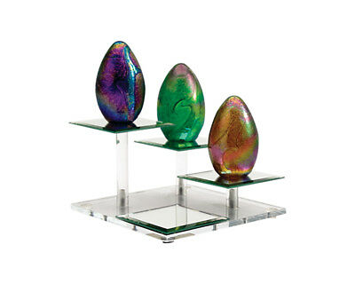 Glass Eye Studio 4 Point Square Mirrored Acrylic Display 6 X 6 X 4 inches 943
