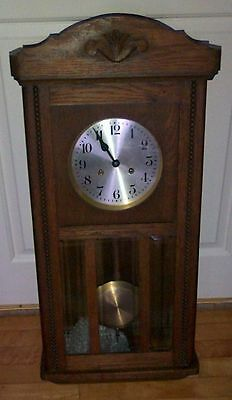 CLOCK - 1930s OAK WALL CLOCK
