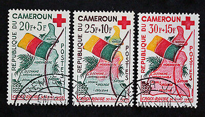 Timbre CAMEROUN / CAMEROON Stamp Yvert et Tellier n°314 à 316 Obl (Col1)