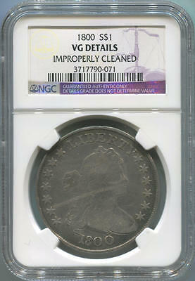 1800 Draped Bust Silver Dollar. NGC VG Details
