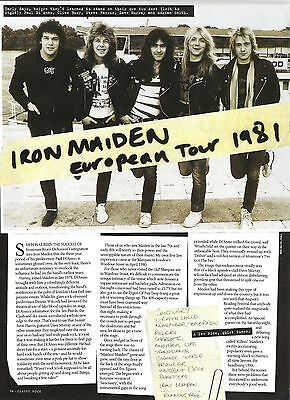 IRON MAIDEN 'in Europe 1981' 2 page UK ARTICLE / clipping