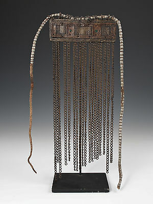 Early 20th century brass and copper cache-sex, Kirdi, Cameroon, Africa