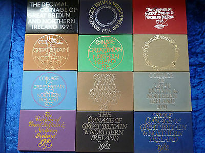 Coinage of Great Britain Proof Sets 1971 - 1982 *multi listing*