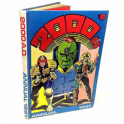 British UK 2000AD annual 1981, Judge Dredd, Unmarked & Unclipped, G.Condition