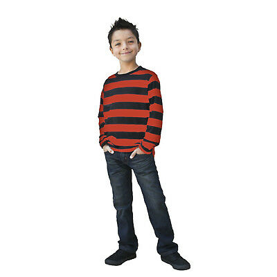 2614a50814 Kids NYC Long Sleeve Punk Mime Stripe Halloween Cosplay Costume Striped  Shirt