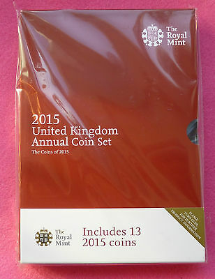 2015 Royal Mint   Annual 13 Coin Set Bu New And Sealed