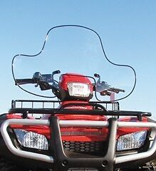 "QuadBoss Universal ATV Windshield 34""x21"" WITH Cutout For Headlight 0284TR"