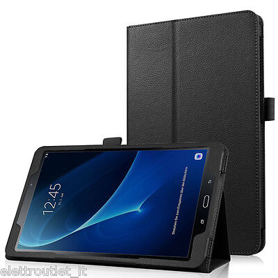 CUSTODIA COVER Integrale SMART SUPPORTO per Samsung Galaxy Tab A6 10.1 2016 Nera