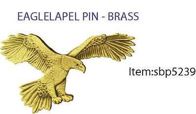 Wedge tail Eagle 3 D Brass lapel brooch pin