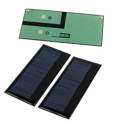 3Pcs DC 5.5V 0.3W Rectangle Energy Saving Solar Cell Panel Module for Charger