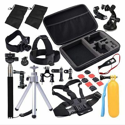 GoPro Hero 2 3 4 Camera Accessories Set Kit 30 in 1 Pole Head Chest Mount Strap