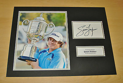 Jason Dufner GENUINE HAND SIGNED Autograph 16x12 Photo Display US PGA 2013 + COA