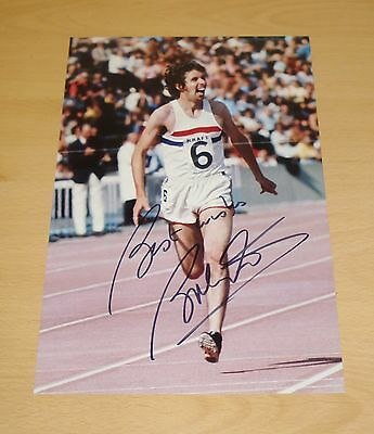 BRENDAN FOSTER AUTHENTIC HAND SIGNED AUTOGRAPH 12x8 PHOTO DISTANCE RUNNER + COA