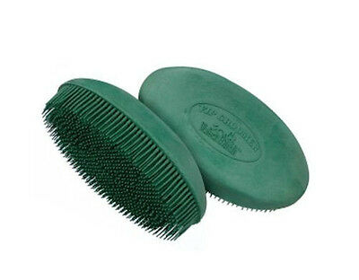 Horse & Western Stable Grooming Equipment Rubber Curry Comb Face Brush Oval