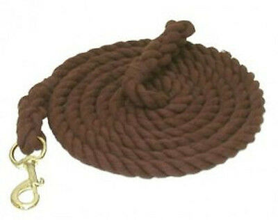 Horse & Western Gatsby Thick Cotton Lead Rope -  Brown - 10'