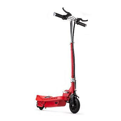 Electric E-Scooter Kids Adults 120 W Ride On Fun Toy Travel 15 Km/h Led Red