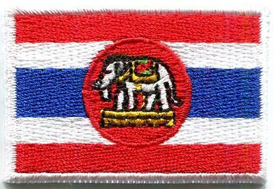 Thai Naval ensign Thailand flag embroidered applique iron-on patch Medium S-1254