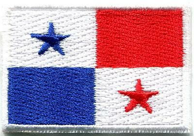 Flag of Panama ensign embroidered applique iron-on patch Medium new S-1253