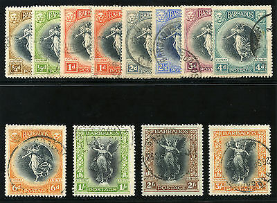 Barbados 1920 KGV Victory set complete very fine used. SG 201-212.