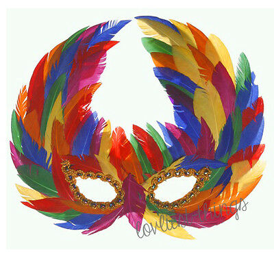 Gay Pride Rainbow Feather Mask Fancy Dress Lesbian & Gay Festivals Marches Party