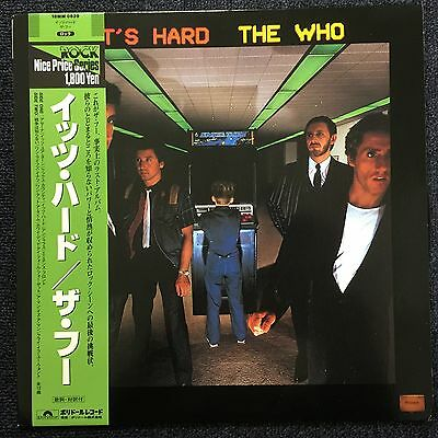 Lp The Who - It's Hard (Japan 1980) Near Mint With Nm Obi & Insert Mod Faces