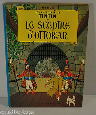 TINTIN: Le Sceptre d'Ottokar BD French Comic Book HERGE Casterman 1960s edition