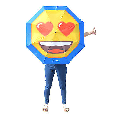 Official Emoji Umbrella Pick Your Favourite Emoticon - Gift For Her Golf Brolly