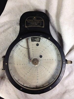 Vintage  1936 Very Large Taylor Recording Thermometer Taylor Instrument Company