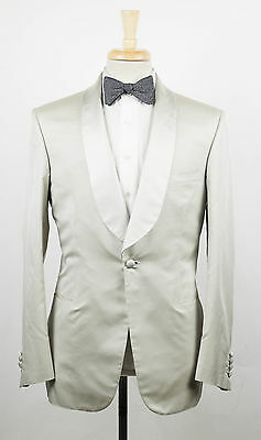 b1249656c BRIONI Liside 09K Ivory Silk Dinner Jacket Sport Coat Size 50/40 R