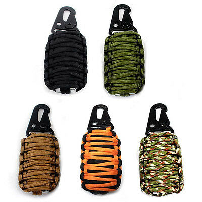 Outdoor Paracord Camping Hiking Travel Fishing Emergency Survival Tool Kit Bag
