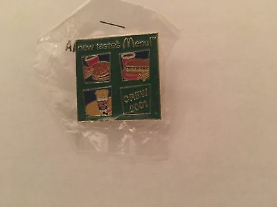 2001 McDonald's New Tastes Menu Crew Pin Mint In Baggie