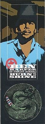 Ben Harper & The Innocent Criminals Burn To Shine RARE promo stickers (2) '99