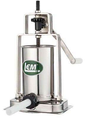 Vertical Sausage Stuffer LEM Products 5 Pound Stainless Steel
